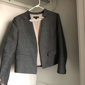 Ann Taylor gray tweed blazer size 10 career wear